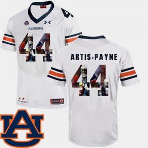 Pictorial Fashion Football #44 White Cameron Artis-Payne Auburn Jersey For Men 360215-184