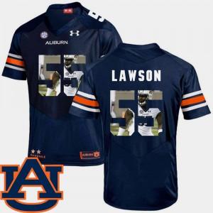 #55 Pictorial Fashion Football Men's Carl Lawson Auburn Jersey Navy 146665-772