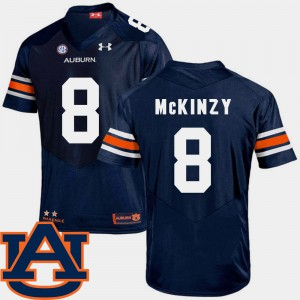 For Men Navy SEC Patch Replica Cassanova McKinzy Auburn Jersey #8 College Football 857239-767