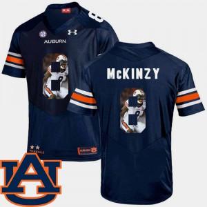 Football Cassanova McKinzy Auburn Jersey #8 Pictorial Fashion Navy For Men 585646-947