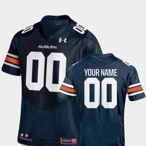 College Football Navy #00 Men Auburn Customized Jerseys 2018 TC 460885-283