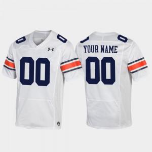 White Replica Football For Men #00 Auburn Custom Jersey 827398-531