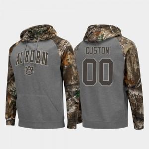 Charcoal Colosseum Raglan Realtree Camo Auburn Custom Hoodies #00 Men 553085-990