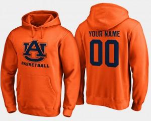 For Men #00 Auburn Customized Hoodies Basketball - Orange 840449-181