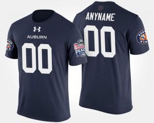 Bowl Game Auburn Custom T-Shirt For Men's Navy #00 Peach Bowl 233293-627