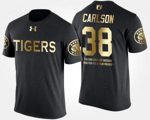Short Sleeve With Message Men's Gold Limited Daniel Carlson Auburn T-Shirt #38 Black 282423-430