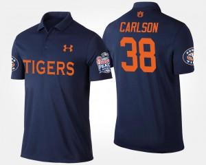 Navy Daniel Carlson Auburn Polo Peach Bowl For Men's #38 Bowl Game 814390-826