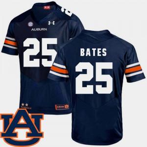 SEC Patch Replica Mens #25 College Football Daren Bates Auburn Jersey Navy 667030-668