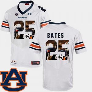 Pictorial Fashion #25 White Football Daren Bates Auburn Jersey For Men 987038-880