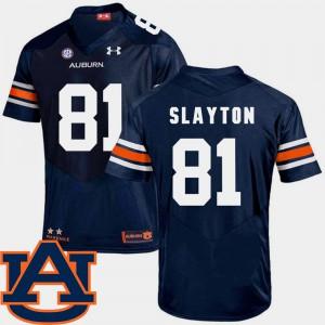 For Men SEC Patch Replica College Football Darius Slayton Auburn Jersey #81 Navy 129650-895
