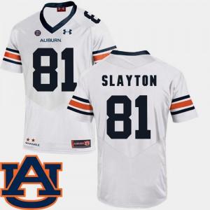 College Football #81 Darius Slayton Auburn Jersey Men White SEC Patch Replica 223671-496