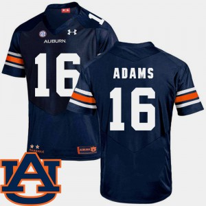 College Football Devin Adams Auburn Jersey SEC Patch Replica Mens #16 Navy 214562-930