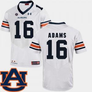 SEC Patch Replica White Devin Adams Auburn Jersey College Football For Men #16 420089-493