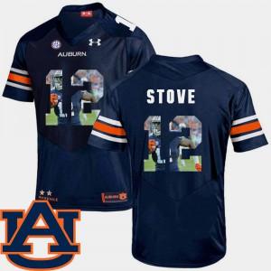 Eli Stove Auburn Jersey Pictorial Fashion Navy Mens #12 Football 625617-555