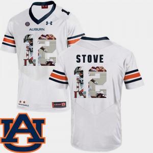 Eli Stove Auburn Jersey Football #12 White Pictorial Fashion Mens 934825-138