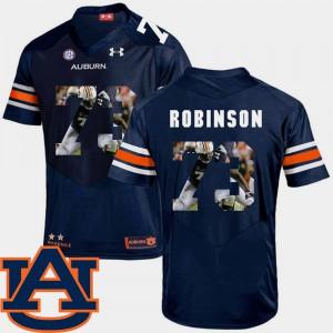 For Men's #73 Football Pictorial Fashion Greg Robinson Auburn Jersey Navy 932231-955