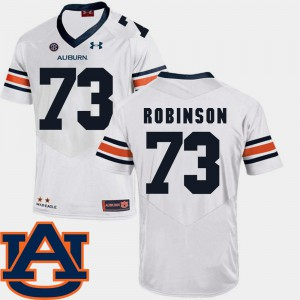 #73 White College Football Greg Robinson Auburn Jersey SEC Patch Replica Men's 418942-367