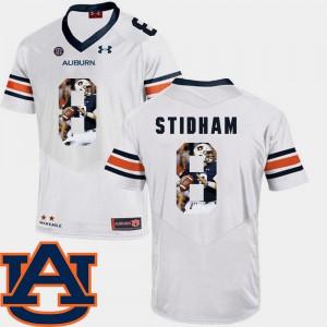 #8 Pictorial Fashion Football Jarrett Stidham Auburn Jersey White Mens 590217-426