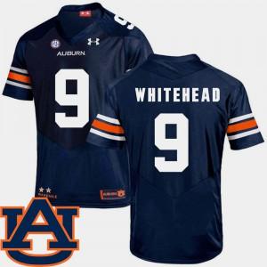 SEC Patch Replica #9 Men Navy Jermaine Whitehead Auburn Jersey College Football 935027-768