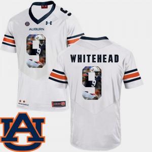 Football White Jermaine Whitehead Auburn Jersey Pictorial Fashion #9 Men's 815152-710