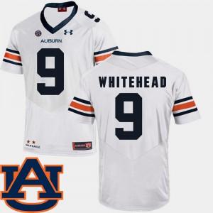 Mens College Football White #9 Jermaine Whitehead Auburn Jersey SEC Patch Replica 236301-900