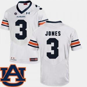 Men's Jonathan Jones Auburn Jersey College Football White SEC Patch Replica #3 988030-801