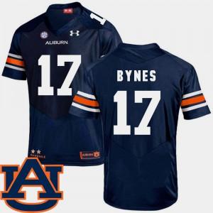 Josh Bynes Auburn Jersey College Football For Men's Navy #17 SEC Patch Replica 383597-555