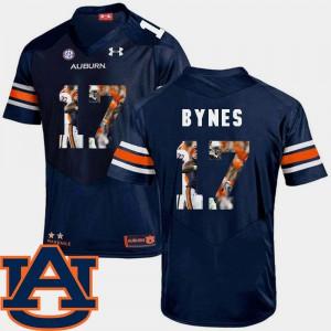 Navy Pictorial Fashion Josh Bynes Auburn Jersey #17 Football Mens 755017-364