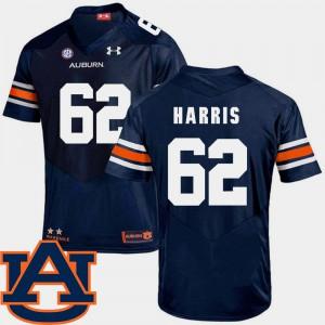 #62 Josh Harris Auburn Jersey SEC Patch Replica Men's College Football Navy 208623-808