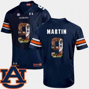Navy #9 Kam Martin Auburn Jersey Men Pictorial Fashion Football 435194-601