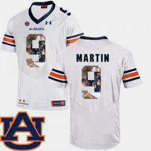 Pictorial Fashion Kam Martin Auburn Jersey White Men's #9 Football 276789-965