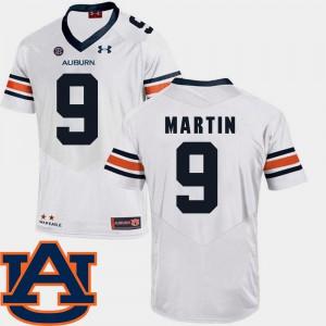 #9 White For Men's Kam Martin Auburn Jersey College Football SEC Patch Replica 811795-887
