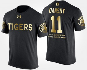 Black Gold Limited Short Sleeve With Message Mens #11 Karlos Dansby Auburn T-Shirt 729637-233