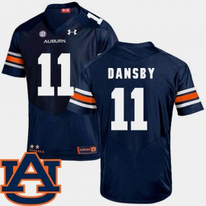 College Football For Men's Karlos Dansby Auburn Jersey Navy #11 SEC Patch Replica 249315-734