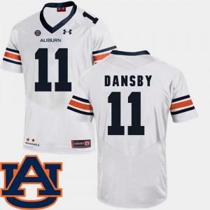 SEC Patch Replica Men's College Football #11 White Karlos Dansby Auburn Jersey 463548-182