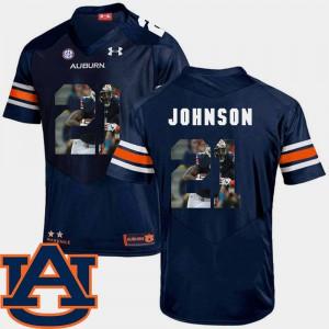 Navy For Men Kerryon Johnson Auburn Jersey #21 Pictorial Fashion Football 552393-528