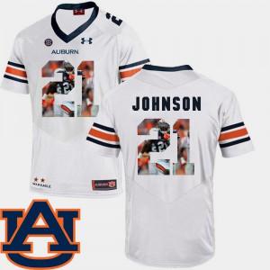 #21 Men Pictorial Fashion Kerryon Johnson Auburn Jersey White Football 825650-366