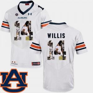 Football White Malik Willis Auburn Jersey Pictorial Fashion For Men's #14 762945-574