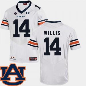 White #14 Malik Willis Auburn Jersey Mens SEC Patch Replica College Football 660164-246