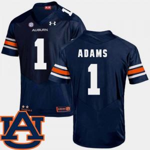 #1 Mens College Football Navy SEC Patch Replica Montravius Adams Auburn Jersey 855008-681