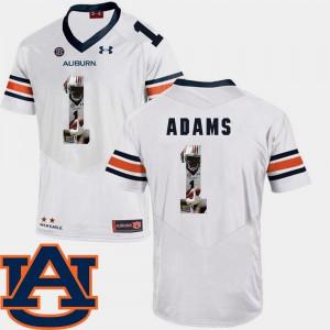 #1 Men White Montravius Adams Auburn Jersey Football Pictorial Fashion 131004-878