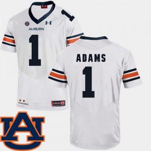 SEC Patch Replica Montravius Adams Auburn Jersey White Men's #1 College Football 673082-608