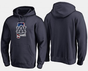 Auburn Hoodie Big & Tall Banner State Navy For Men's 237110-161