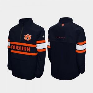 Auburn Jacket Quarter-Zip Navy Alpha Windshell Pullover Men 958747-694