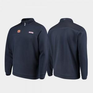Quarter-Zip Auburn Jacket Shep Shirt Navy Mens 277844-427