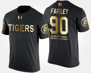 Short Sleeve With Message Gold Limited #90 Black For Men's Nick Fairley Auburn T-Shirt 344668-803