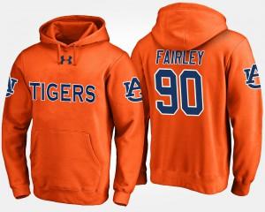 #90 Nick Fairley Auburn Hoodie Orange For Men 692306-147