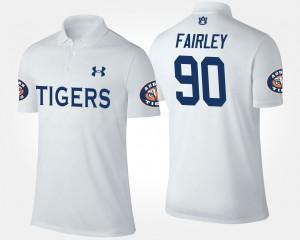 Nick Fairley Auburn Polo White Men's #90 232619-113