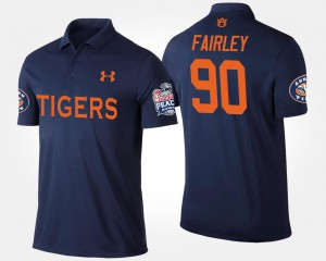 Navy Nick Fairley Auburn Polo Bowl Game For Men's Peach Bowl #90 212035-778