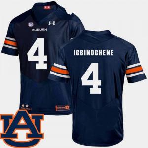 Navy #4 College Football Noah Igbinoghene Auburn Jersey Mens SEC Patch Replica 618612-856